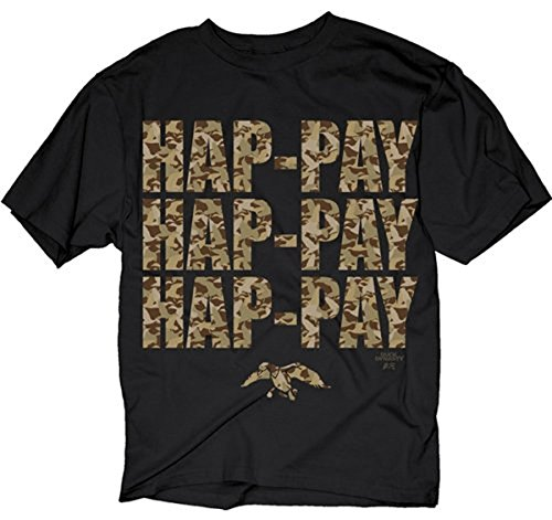 Duck Dynasty Phil Robertson Hap-pay Hap-pay T-Shirt with Letters in Camo Print