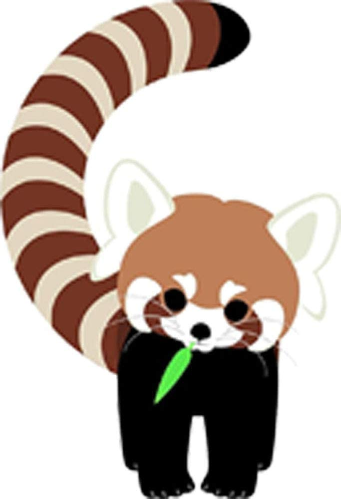 Amazon Com Cute Baby Red Panda Adorable Jungle Animal Cartoon Vinyl Sticker 4 Tall Curve Arts Crafts Sewing
