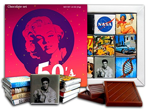 DA CHOCOLATE Candy Souvenir THE 50'S Chocolate Gift Set 5x5in 1 box (Women Prime)
