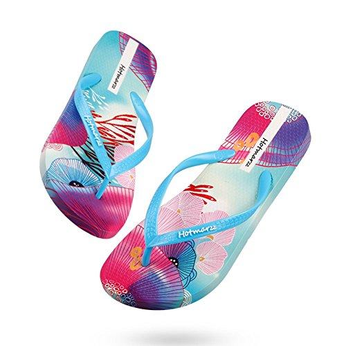 motivo Slipper Infradito Spiaggia con Donne antiscivolo Sandals d'estate 3D nzqFUZwz0x