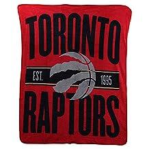 NBA Toronto Raptors Micro Raschel Throw, One Size, Multicolor