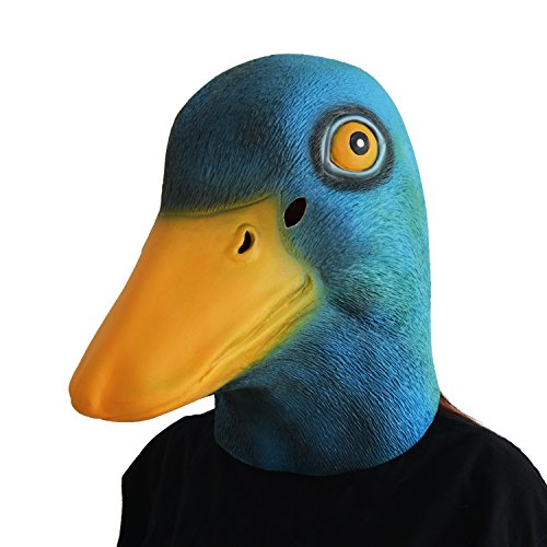 Scary Mask Selfie - LarpGears Deluxe Novelty Halloween Latex Duck