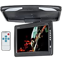 Accele ZFD14WN 14 Inches Wide Screen Flip Down Roof Mount LCD Monitor With Built In IR Transmitter
