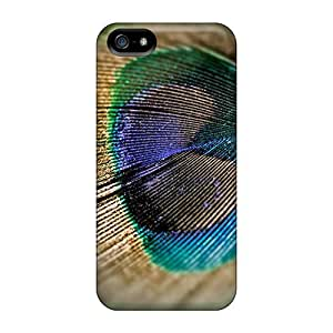 For Case HTC One M7 Cover Protector Cases Peacock Feather Phone Covers