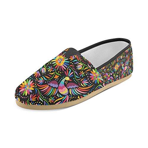 D-etasjers Mote Joggesko Flats Klassiske Slip-on Canvas Sko Loafers Multicoloured21