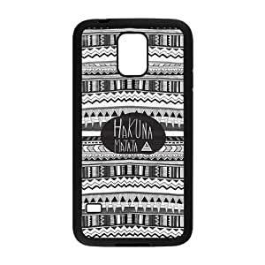 Danny Store Aztec Hakuna Matata Protective TPU Rubber Back Fits Cover Case for Samsung Galaxy S5