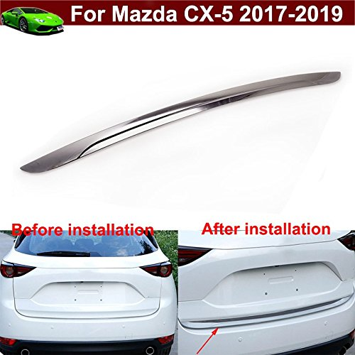 - 1pcs Chrome Rear Trunk Lid Molding Cover Trim Trunk Door Lid Cover Trim Cover Molding Trim Molding Cover Trim Strip Rear Hatch Door Trunk Lid Molding Cover Trim For Mazda CX-5 CX5 2017 2018 2019