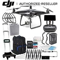 DJI Phantom 4 PRO+ PLUS Obsidian Edition Drone Quadcopter Includes Display (Black) Starters Travel Backpack Bundle