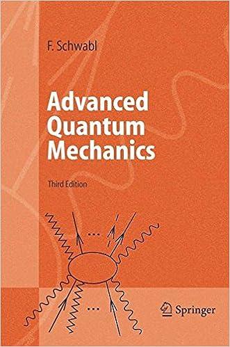 Advanced Quantum Mechanics Franz Schwabl R Hilton Angela Lahee