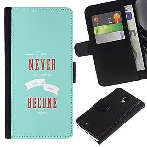 Stuss Case / Funda Carcasa PU de Cuero - Si nunca hace nada - Samsung Galaxy S4 Mini i9190