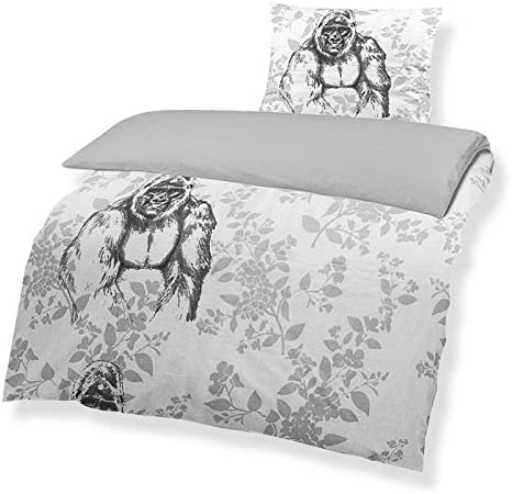 wendbar Renforce Bettbezug Bettwaesche ROLLER Bettw/äsche GORILLA