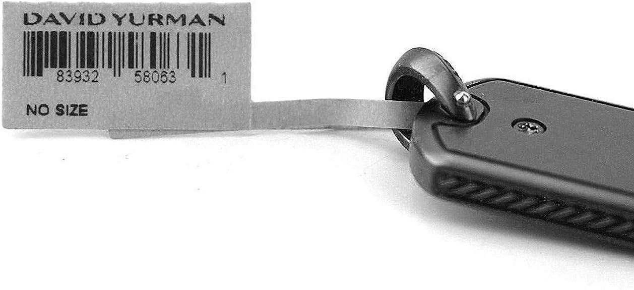 DAVID YURMAN AMAZING SOLID 18K GOLD BLACK TITANIUM 35 mm DOG TAG NEW BOX 96P