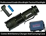 NEW Professional Grade Ultra Bright Tactical Flashlight 300 Lumen LED Rechargeable Kit Zoomable Spotlight Best Tool For Boy Scouts Bugout Bag Power Outage Great Camping Lantern Outdoor Survival Gear