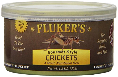 Fluker's Gourmet Canned Food for Reptiles, Fish, Birds and Small (Flukers Crickets)