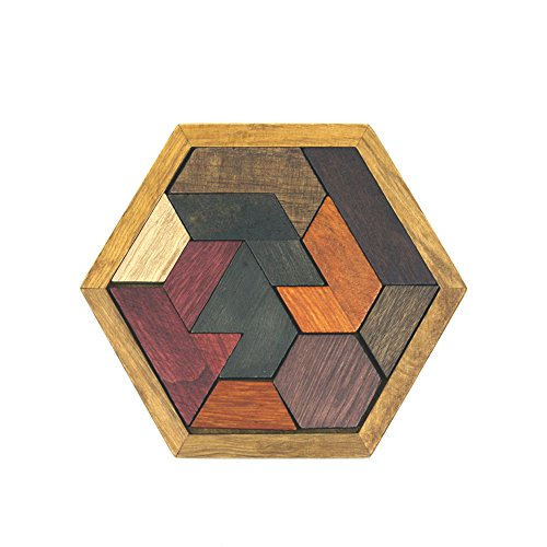 (Faironly Children Jigsaw Puzzle Toy Hexagons Honeycomb Digital Chess Egg Shape Intelligence Development Educational Toy Hexagon)