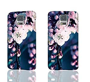 Pink Blooming Flowers 3D Rough Case Skin, fashion design image custom, durable hard 3D case cover, Case New Design for Samsung Galaxy S5 I9600 , By Codystore