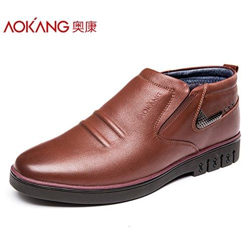 Aemember scarpe da uomo Business Casual scarpe e caldo cotone scarpe scarpe uomo 161012003,43 marrone,
