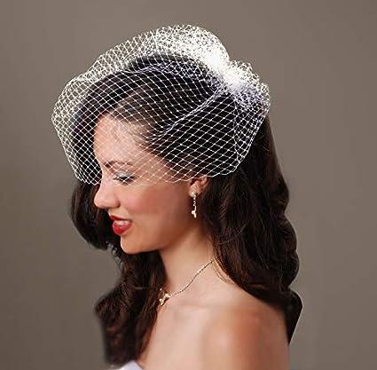 989d65efe918b Amazon.com  David Tutera Birdcage Veil with Comb - Cream - 18 inches  Arts