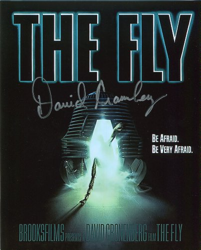 David Cronenberg Signed / Autographed Movie Poster 8x10 glossy photo from The Fly. Includes FANEXPO Certificate of Authenticity and Proof. Entertainment Autograph Original. from Star League Sports
