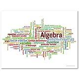 Algebra Word Cloud Poster