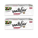 Vanity Fair Everyday Napkins, 660 ct, White Paper