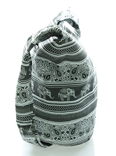Gray elecb21 white Crossbody Hobo Messenger Bohemian Purse Bag Hippie Avarada Cotton Sling Medium P7Zgnqv