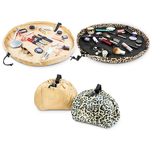 ee2e727e9e2 Lay-n-Go COSMO Plus (21 ) Set of Two Cosmetic Bags (Leopard Sand ...