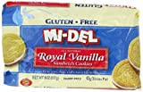 Mi-Del Gluten-Free Royal Vanilla Sandwich Cookies, 8 Ounce Packages (Pack of 12)