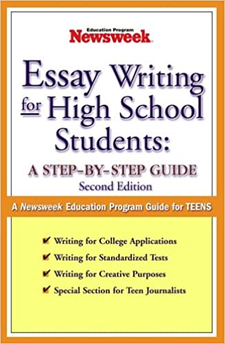 Amazoncom Essay Writing For High School Students A Stepbystep  Essay Writing For High School Students A Stepbystep Guide Nd Edition