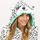 Zalanala Womens Leopard Print Hooded Sweatshirt