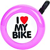 ACTION I Love My Bike Steel Each Bell, Pink