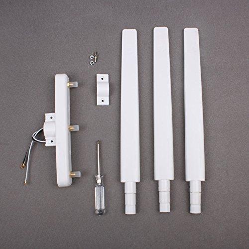 Drone Fans Phantom 3 Refitting Signal Booster DIY Omni-directional Antenna Range Extender for DJI Phantom 3 Standard Only (White)