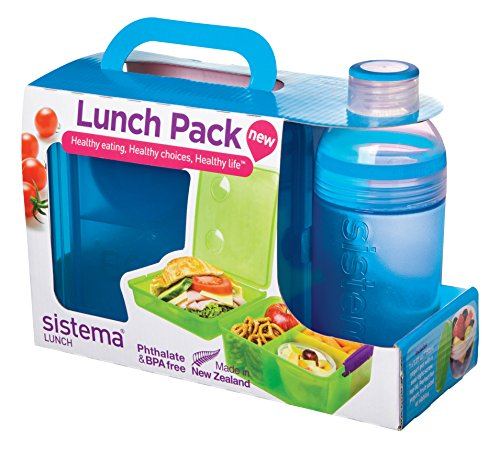 Sistema Lunch Pack With Lunch Cube Max And Trio Bottle