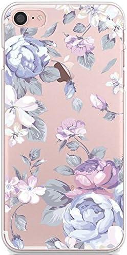 IPhone7 iPhone8 tpu 케이스 CrazyLemon 초박형 퍼플 핑크 로즈 장미 꽃무늬 소프트 TPU 실리콘 아이폰 7 아이폰 8 케이스 투명 클리어 멋쟁이 귀여운 예쁜 낙하 방지 충격 흡수 4.7 리 공기 조절기 / iPhone7 iPhone8 tpu case CrazyLemon Ultra Th...