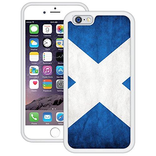 Schottland Flagge | Handgefertigt | iPhone 6 6s (4,7') | Weiß TPU Hülle