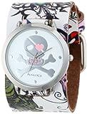 De las mujeres némesis 302-821 P diseño de calavera Punk Rock Corazón Reloj Brazalete de Cuero