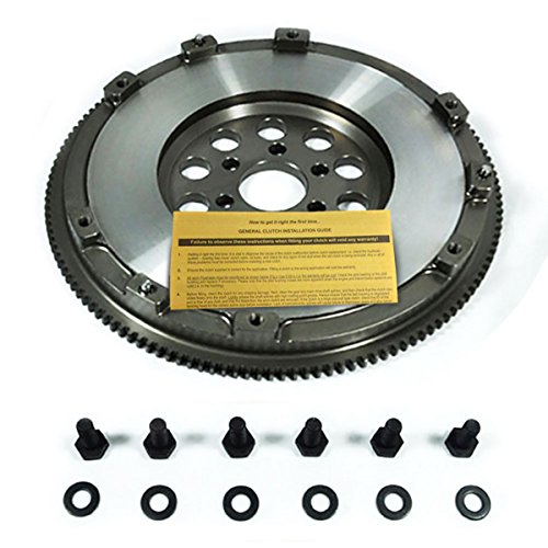 EFT 15LBS SOLID CHROMOLY CLUTCH FLYWHEEL for 97-05 AUDI A4 PASSAT 1.8T TURBO