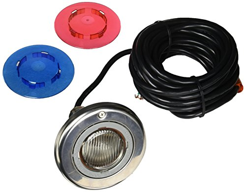 30 100w 120v Cord - Sta-Rite 05605-2030 SunLite Brass LTC Pool and Spa Light, 120 Volt, 30 Foot Cord, 100 Watt