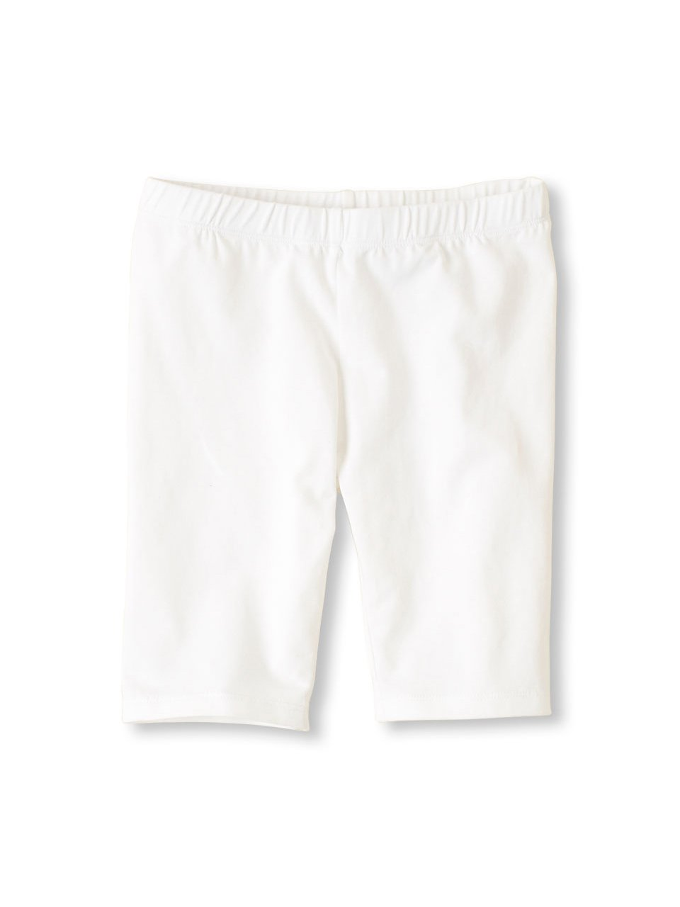 Vivian's Fashions Legging Shorts - Girls, Biker Length, Cotton (White, Medium)