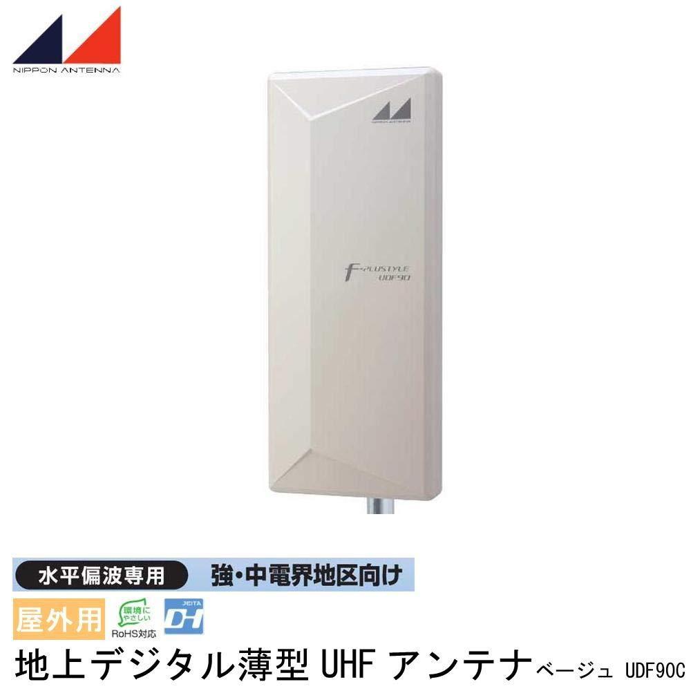 日本アンテナ 屋外用 地上デジタル薄型UHFアンテナ 水平偏波専用 強中電界地区向け ベージュ UDF90C B07Q161F3V