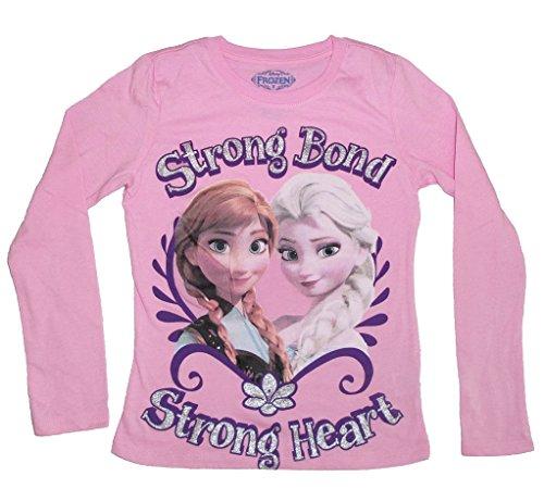 Disney Frozen Strong Bond Strong Heart Youth Rosafarben Long Sleeve T-Shirt