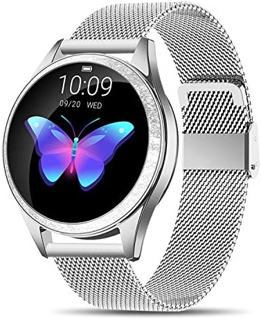 Yocuby V2 Smart Watch for Women, Fitness Tracker Compatible with iOS Android Phone, Sport Activity Tracker with Sleep Heart Rate Monitor Find My Phone Physiological Reminder Silver