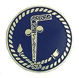 Fratline Masonic Two Ball Cane Auto Emblem
