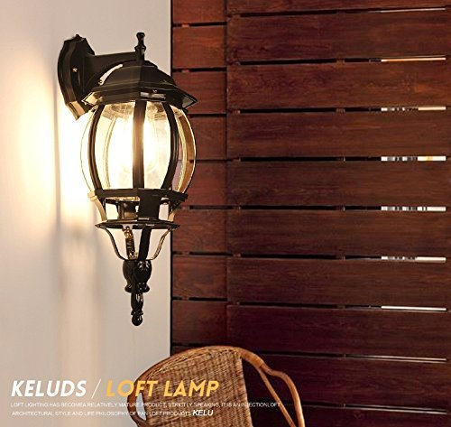 HOMEE Wall lamp- european-style living room bedroom balcony aisle hallway stairs backdrop lighting industrial wind retro american iron wall --wall lighting decorations,Gold by HOMEE