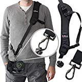 Camera Strap,Camera Sling Strap with Quick Release Plate, Adjustable and Comfortable Neck/Shoulder Long Safety Tether for DSLR/SLR Camera (Nikon, Canon, Sony)