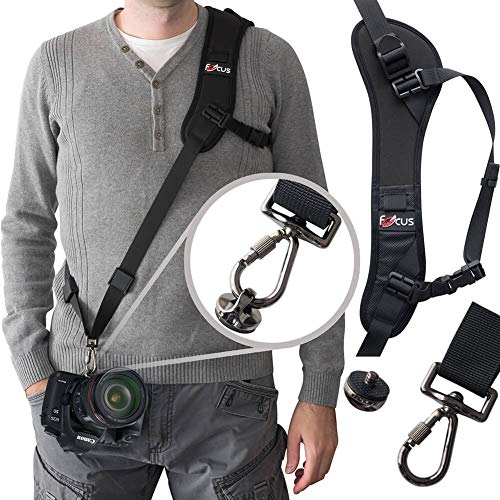 Camera Strap,Camera Sling Strap with Quick Release Plate, Adjustable and Comfortable Neck/Shoulder Long Safety Tether for DSLR/SLR Camera (Nikon, Canon, Sony) 51C8SpLJ4yL
