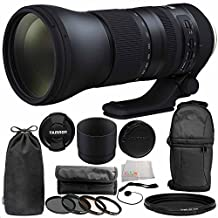 Tamron SP 150-600mm f/5-6.3 Di VC USD G2 for Canon EF 11PC Accessory Bundle - Includes 4PC Warming Filter Kit + Variable Neutral Density Filter (ND2-ND400) + Backpack + MORE