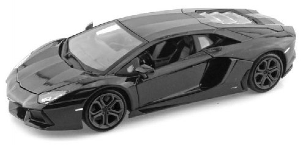 Lamborghini Matt Black Aventador LP 700 4 1 38 5 Pull Back Diecast Car