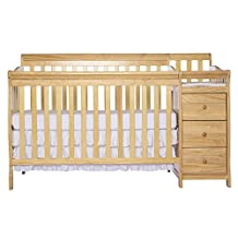 Dream On Me 5 in 1 Brody Convertible Crib with Changer, Natural