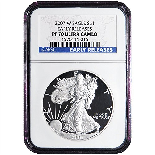 2007 W Proof Silver American Eagle (Early Releases) $1 PF-70 NGC